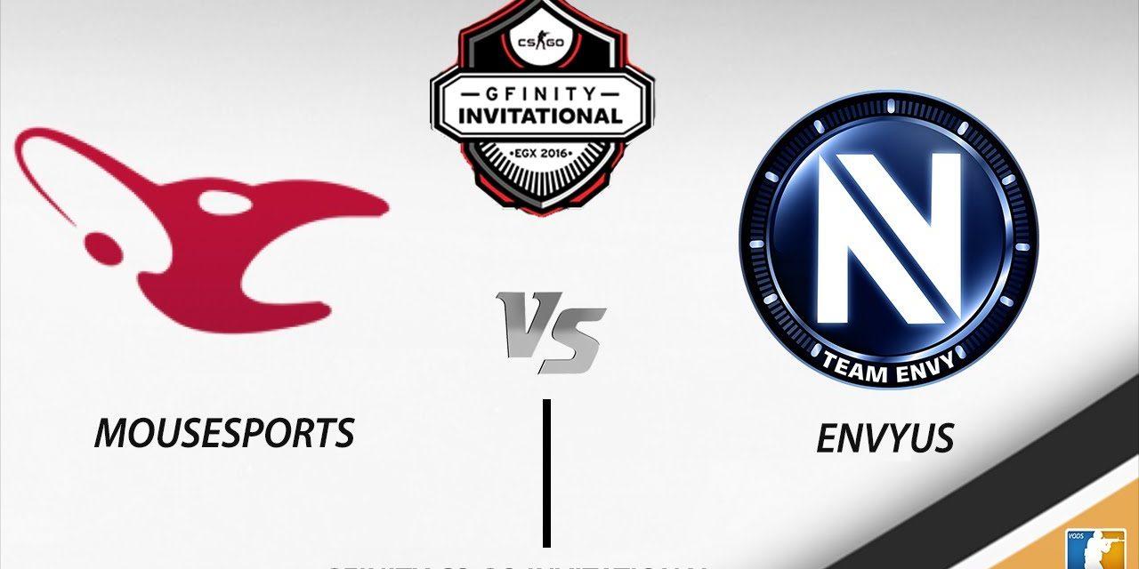 Νικήτρια η EnVyUs ενάντια της Mousesports στον Gfinity CSGO Invitational Final 2016