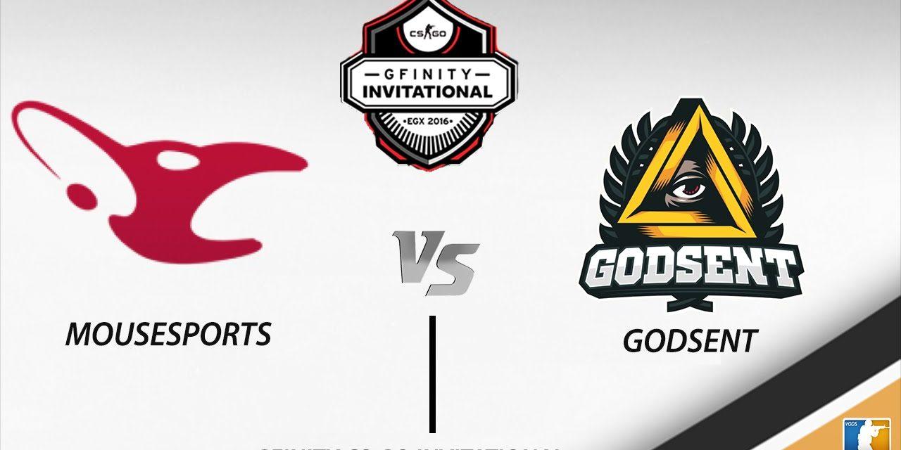 Νικήτρια η Mousesports vs την Godsent στο GFinity Semi-Finals Invitational 2016