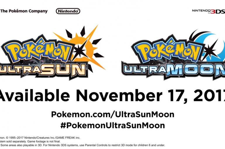 Ανακοινώθηκαν τα Pokemon Ultra Sun & Ultra Moon για το 3Ds, μαζί με Gold – Silver! Pokken για το Nintendo Switch.