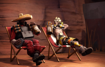 Overwatch vs. Team Fortress 2 crossover video